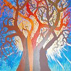 Next stages of TREE OF LIFE painting (Series 2) by LESLEY B