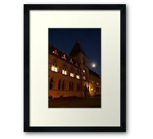 Museum of Natural History, by Night Framed Print