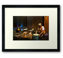 72 year young lady from Kumta Framed Print