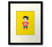 Pixel Steven Framed Print