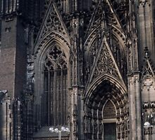North Portal 1845 1880 Cathedral Koln Germany 198406260005 by Fred Mitchell