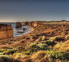Walkway to Grandeur - Great Ocean Road , Victoria Australia - The HDR Experience by Philip Johnson