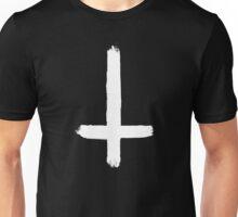 INVERTED CROSS - WHITE Unisex T-Shirt