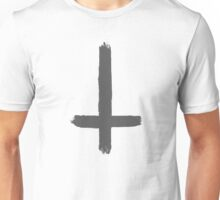 INVERTED CROSS - DARK GREY Unisex T-Shirt