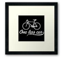 One Less Car Framed Print