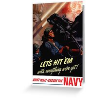 Choose The Navy -- WW2 Recruiting Greeting Card