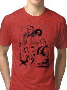 Puroresu Comic - Bruiser Brody, Stan Hansen, Antonio Inoki Tri-blend T-Shirt