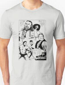 Puroresu Comic - Bruiser Brody, Stan Hansen, Antonio Inoki T-Shirt