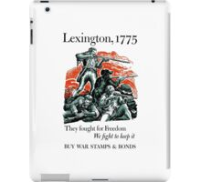 They Fought For Freedom We Fight To Keep It -- WWII iPad Case/Skin