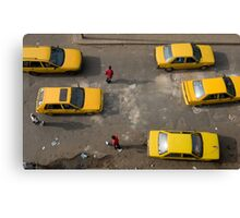 Taxis on Broad Street in Monrovia, Liberia Canvas Print