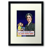 US Cadet Nurse Corps - WW2 Framed Print