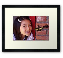 little boss and a beautiful visitor Framed Print