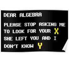 DEAR ALGEBRA FUNNY X Y Poster