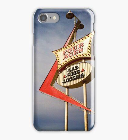 Four Aces motel iPhone Case/Skin