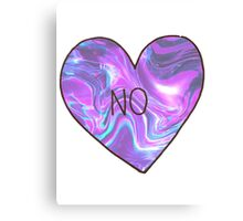 'NO' Tumblr Heart Canvas Print