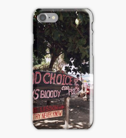 Good Choice Bar, Seminyak Beach Bali iPhone Case/Skin