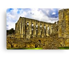 Rievaulx Abbey - North Yorkshire. Canvas Print
