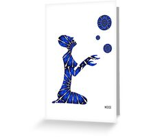 Femme planete Greeting Card