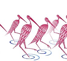 Flamingos by meoise