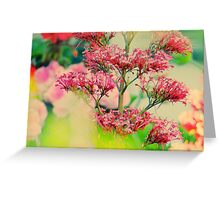 Hidding behind flowers Greeting Card