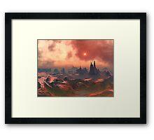 Under a Blood-red Sky Framed Print