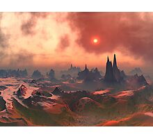 Under a Blood-red Sky Photographic Print