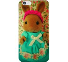 Sylvanian Families ~ rabbit with blue dress iPhone Case/Skin
