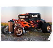 Sunset Flames Poster