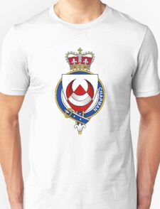 Coat of arms (family crest) for last-name or surname Chapman (England) . Heraldry banner for your name. T-Shirt