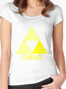Triforce of Courage Women's Fitted Scoop T-Shirt