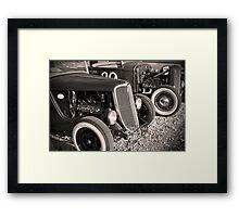 Flatheads and Whitewalls Framed Print