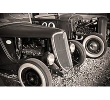 Flatheads and Whitewalls Photographic Print