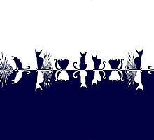 Cats at Waterside / Les chats au bord de l'eau by meoise