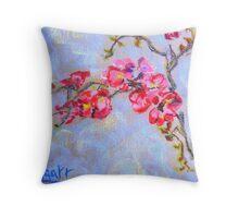 Quince blossom Throw Pillow