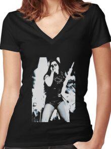 Lauren Jauregui Silhouette Fifth Harmony Women's Fitted V-Neck T-Shirt