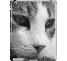 relaxing cat b/n iPad Case/Skin