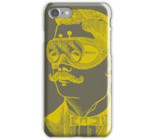 Vintage man in goggles iPhone Case/Skin