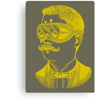 Vintage man in goggles Canvas Print