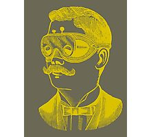 Vintage man in goggles Photographic Print