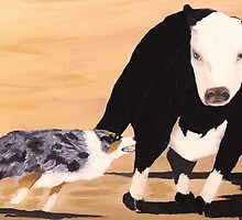 Tough Cowdog Greeting Card by Barbara Applegate