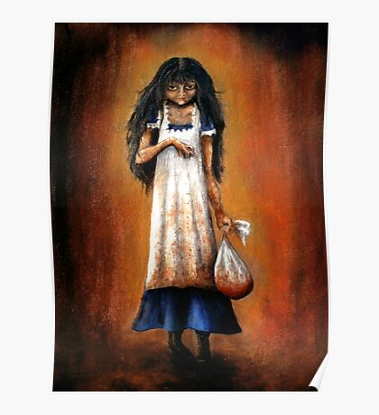 Girl with Sack Poster