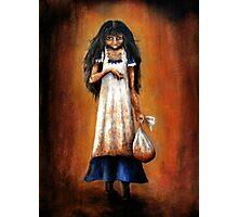 Girl with Sack Photographic Print