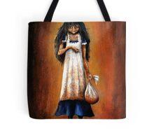Girl with Sack Tote Bag