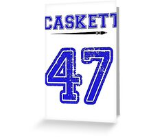 Caskett 47 Jersey Greeting Card
