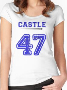 Castle 47 Jersey Women's Fitted Scoop T-Shirt