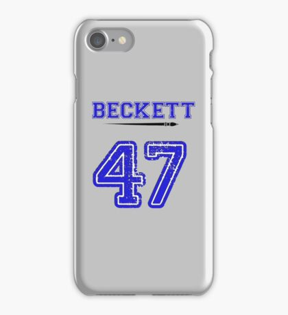 Beckett 47 Jersey iPhone Case/Skin