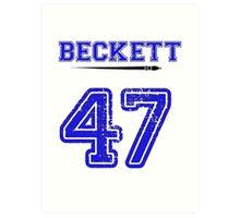 Beckett 47 Jersey Art Print
