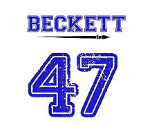 Beckett 47 Jersey Photographic Print