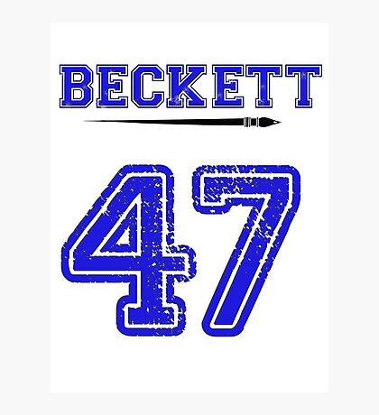Beckett 47 Jersey Photographic Print