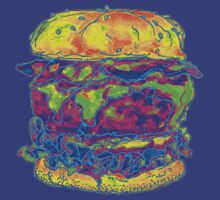 Neon Bacon Cheeseburger by HiddenStash